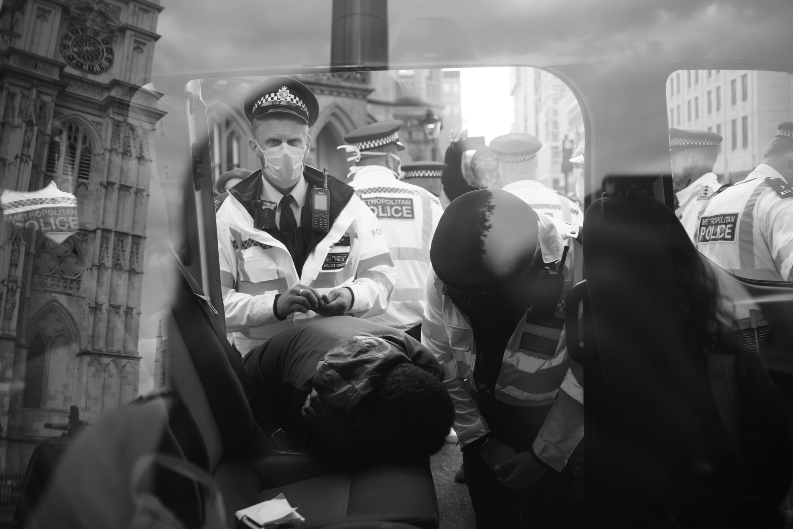 Police arrest a black Man, London, Extinction Rebellion
